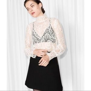 & Other Stories Lace Top